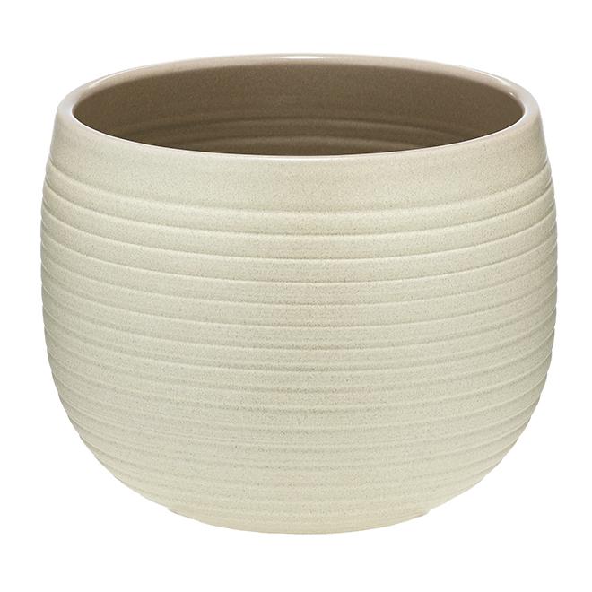 """Cache-pot en céramique, 6 1/4"""", crème"""
