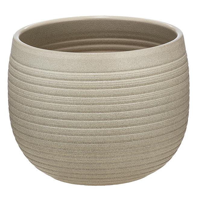 """Cache-pot en céramique, 6 1/4"""", taupe"""