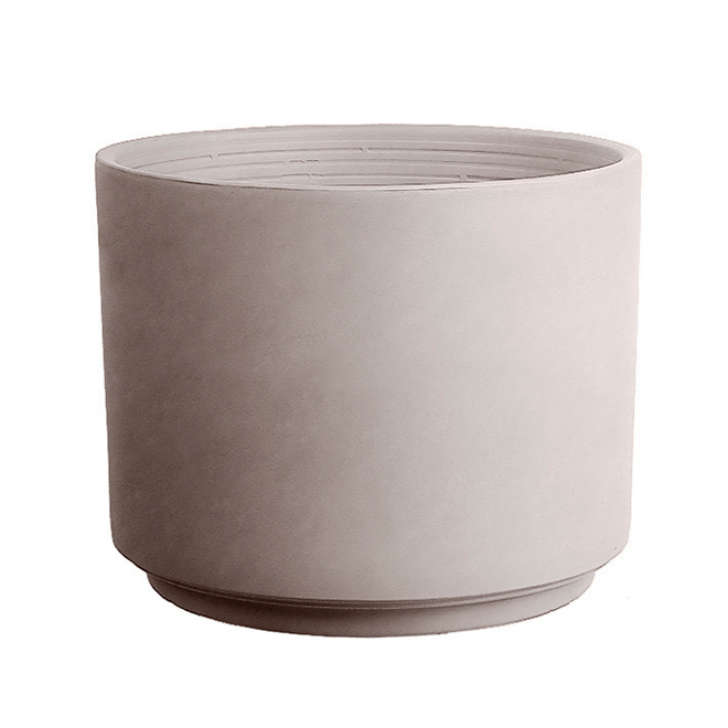 "Clay Cylinder Pot - 5.90"" - Greige"