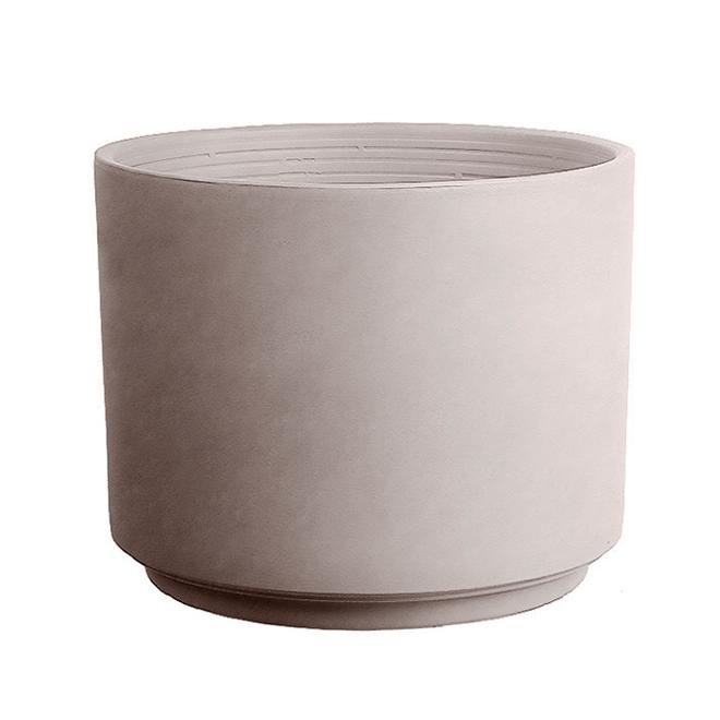 """Pot cylindrique en grès, 7,87"""", grège"""