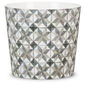 Cache-pot Cordoba en céramique, 13 cm, motifs imprimés