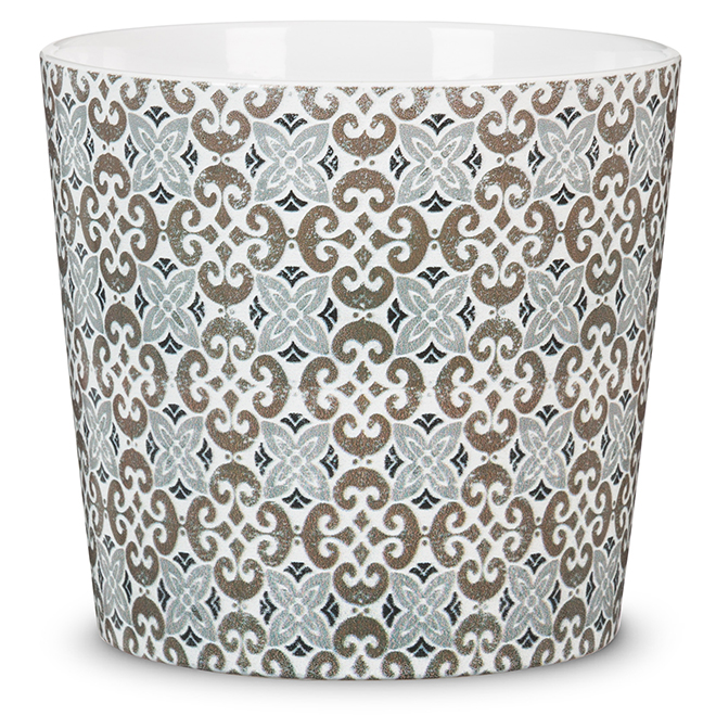 Ceramic Pot Cover - Malaga - 13 cm - Printed Patterns