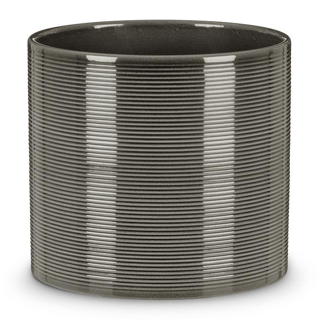 Scheurich 828 Pot Cover - 23 cm - Ceramic - Grey