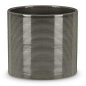 Cache-pot 828 Scheurich, 28 cm, céramique, gris