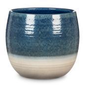 Plant Cover Pot 'Intense' - Ceramic - 7'' - Blue