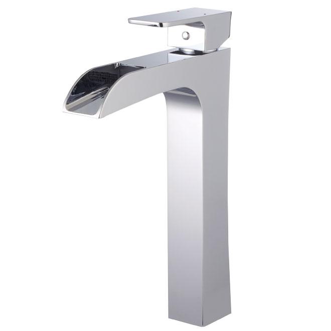 """Waterfall"" vessel faucet"