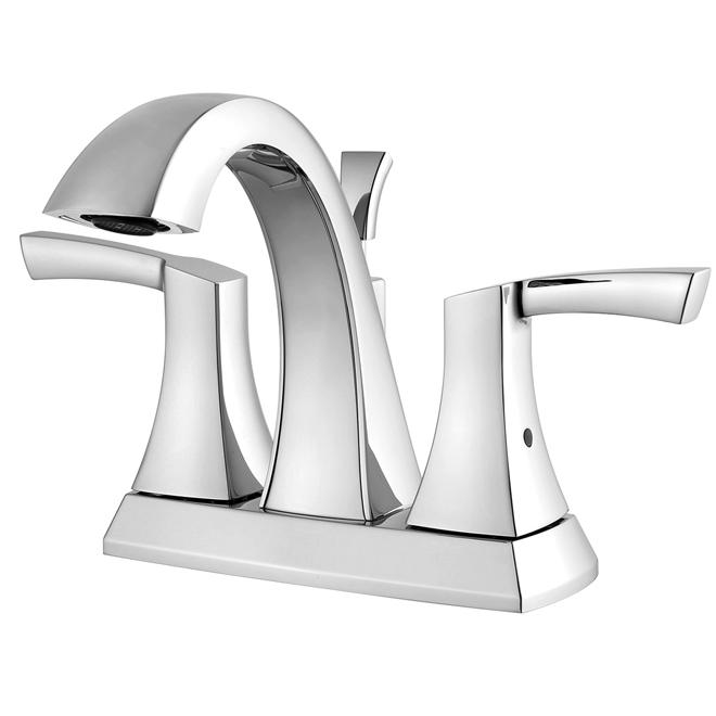 Lavatory Faucet - 2 Handles - Chrome