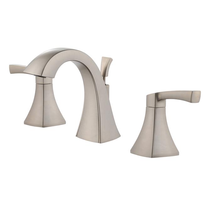 Lavatory Faucet - 2 Handles - Brushed Nickel
