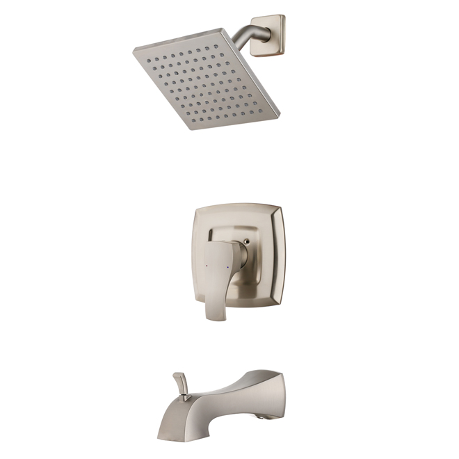 Uberhaus Tub And Shower Faucet 1 Handle Brushed Nickel Vl24412nn