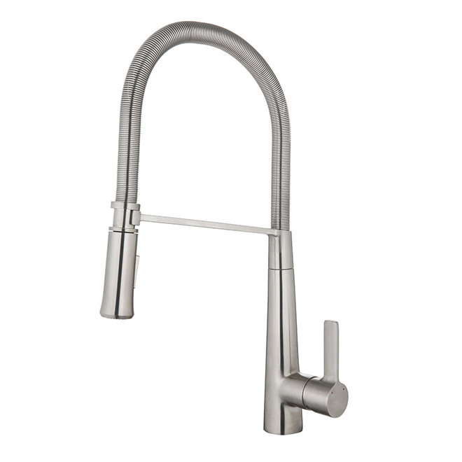 Retractable Kitchen Faucet Flexible Hose Stainless Steel