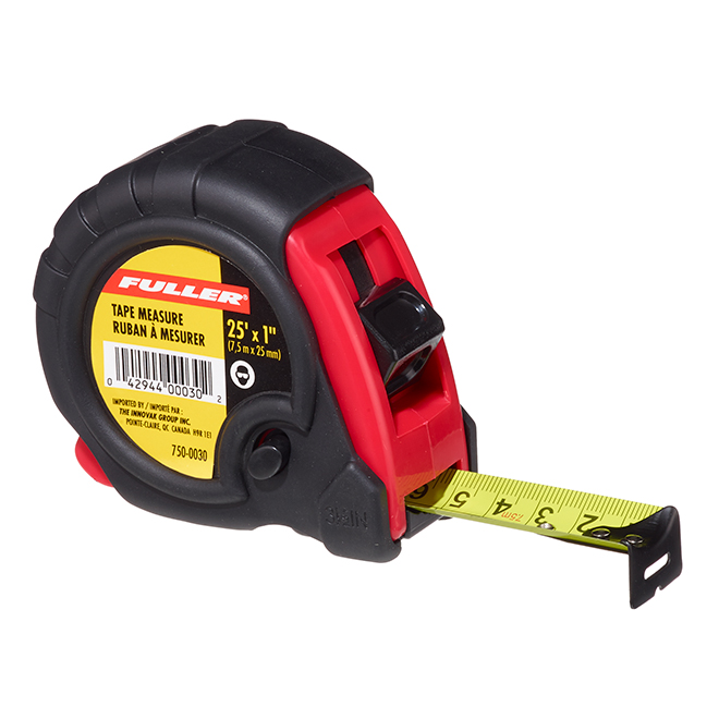 Locking Measuring Tape - Plastic/Rubber - SAE/Metric - 25'