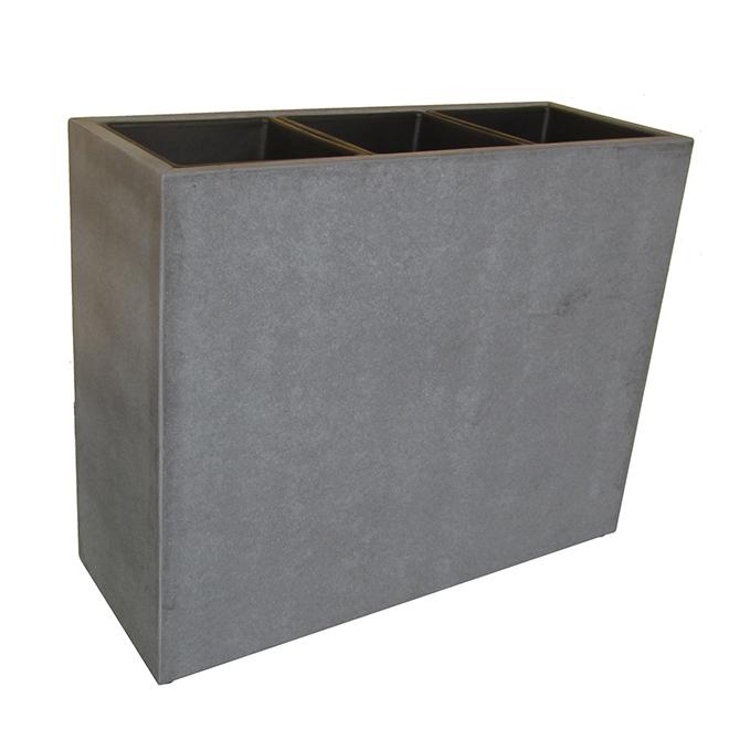 """Boîte à fleurs en fibrociment, 30,75"""" x 11,25"""" x 25"""", ciment"""