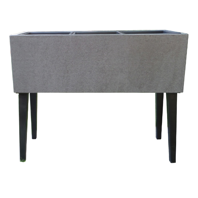 "Flower Box with Legs - 30.25"" x 11.5"" x 24.5"" - Cement"