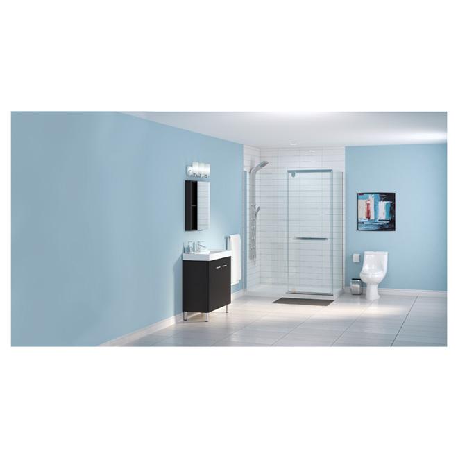 Meuble-lavabo 2 portes « Marsala », noir