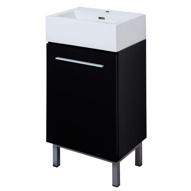 Meuble-lavabo « Soho », noir