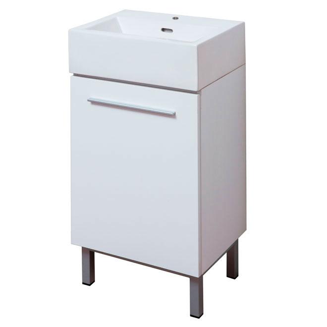 """""""Soho"""" Vanity/Sink - 1 Door - 18'' x 34'' x 13.4'' - White"""