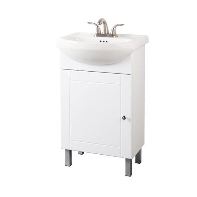 Meuble-lavabo 1 porte, blanc