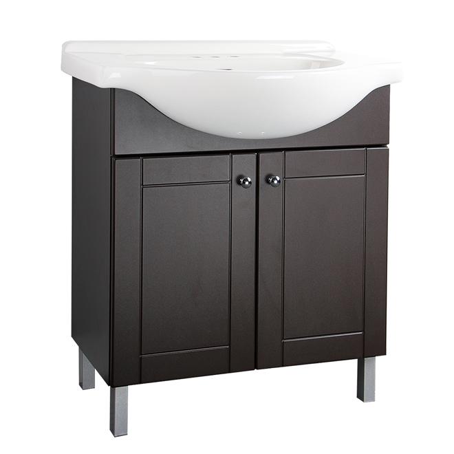 meuble lavabo 2 portes chocolat rona. Black Bedroom Furniture Sets. Home Design Ideas