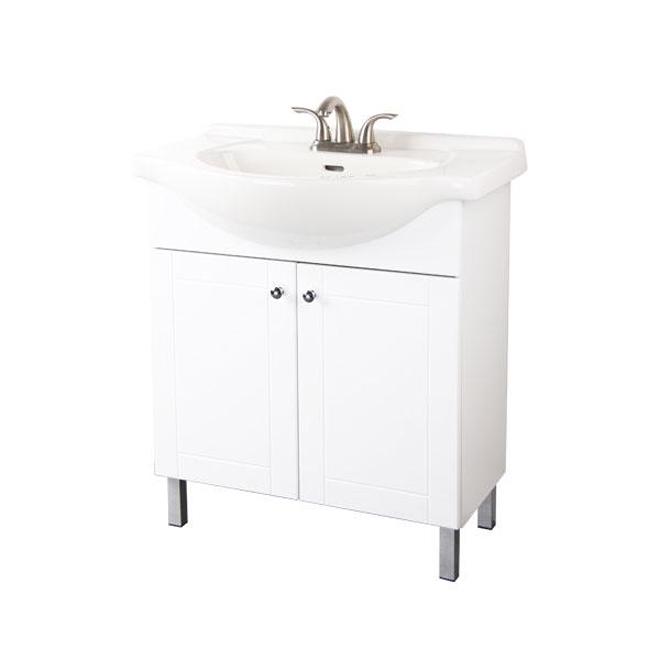 Meuble-lavabo 2 portes, blanc