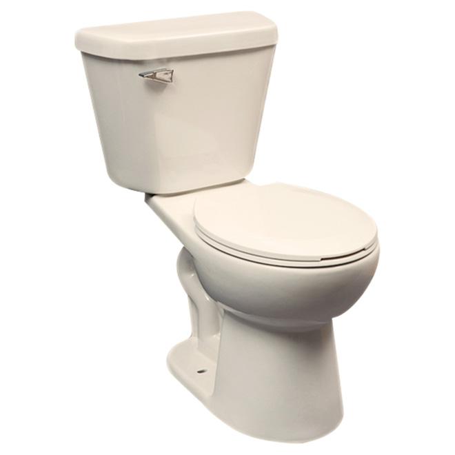 Toilette 2 pièces à cuve ronde, Confort, 4.8 l, os