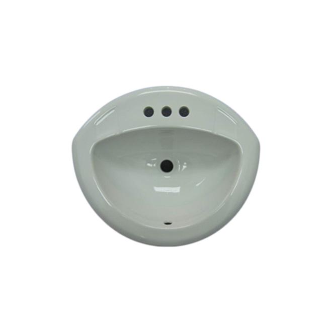 Lavabo encastrable en céramique fini blanc