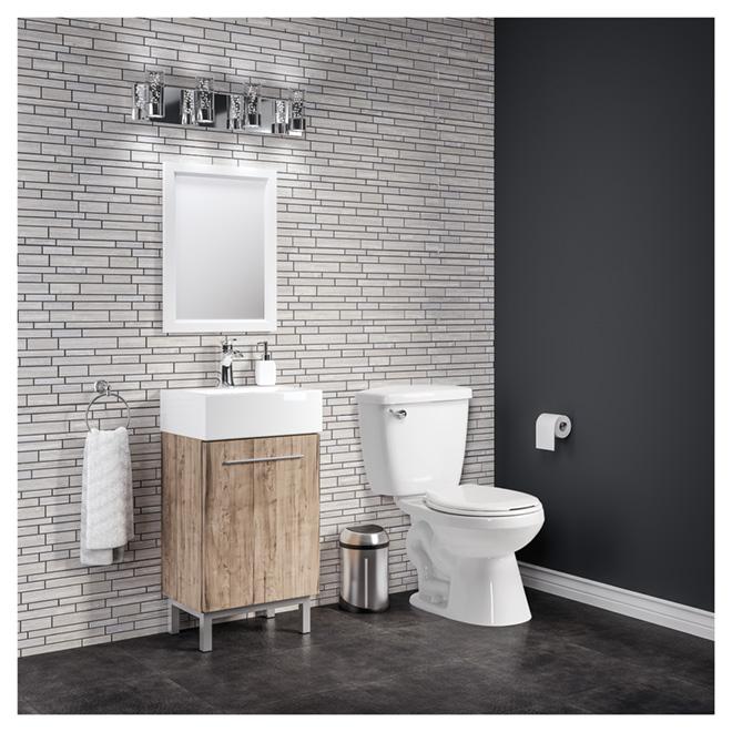 """Meuble-lavabo « Soho », 18"""" x 34"""", fini bois pâle"""