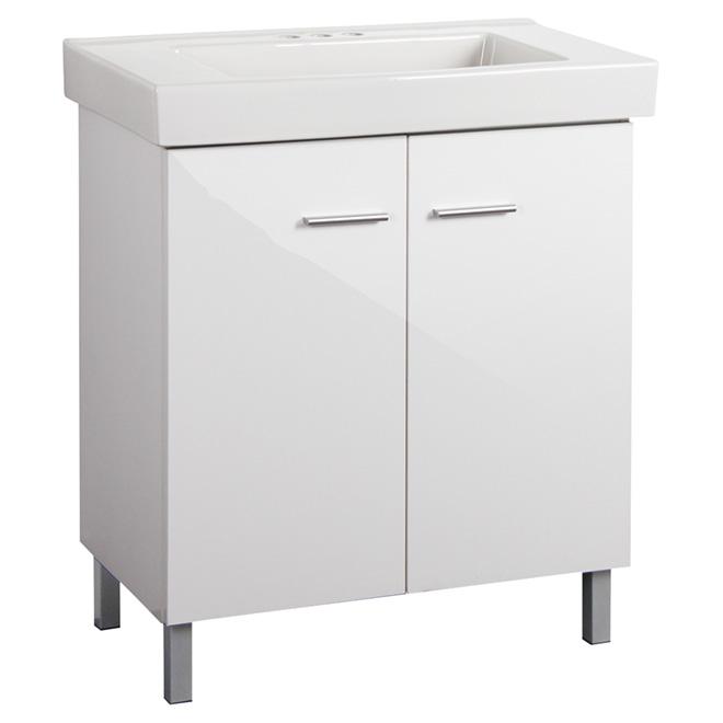 Facto Vanity with 2 Doors - High-Gloss White YG750HW