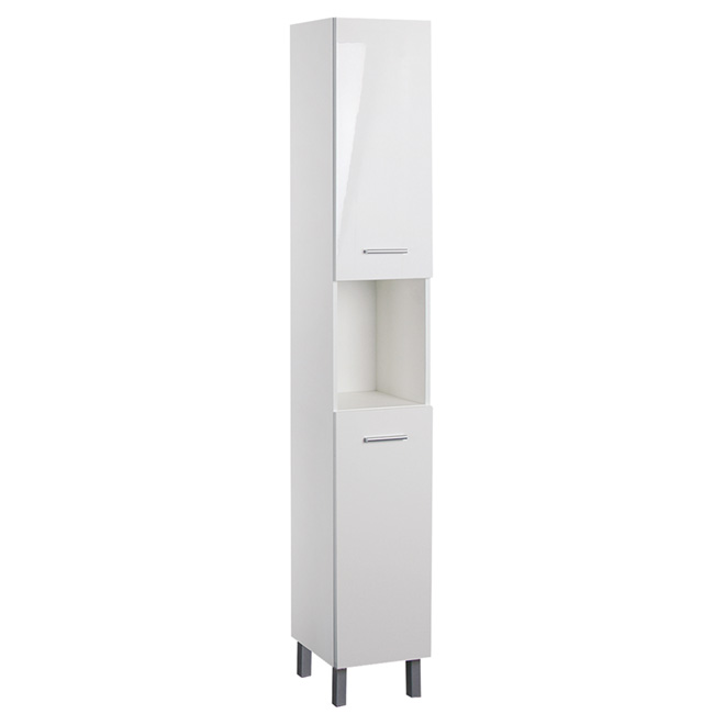 Bathroom Cabinet - High-Gloss White