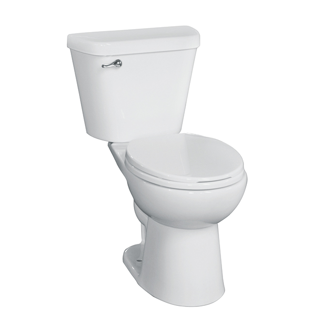 High Efficiency Single-Flush 2-Piece Toilet - 4.8L - White