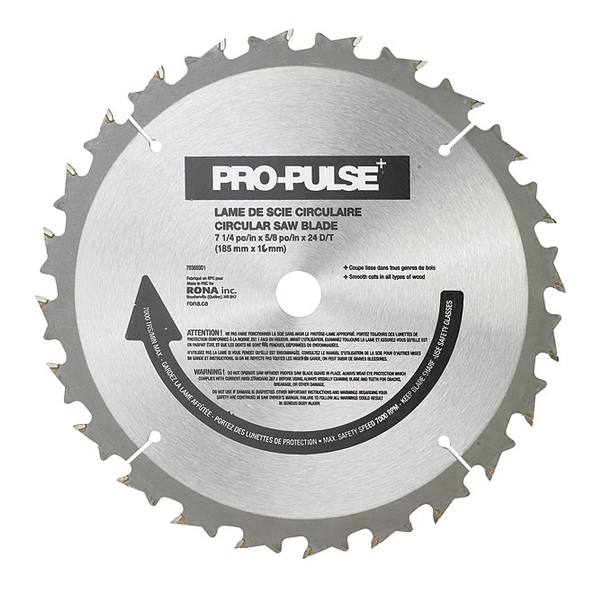 Circular Saw Blade - Carbide - 7 1/4""