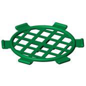 """Grille de drain Soleno en polyéthylène, 4"""", vert"""