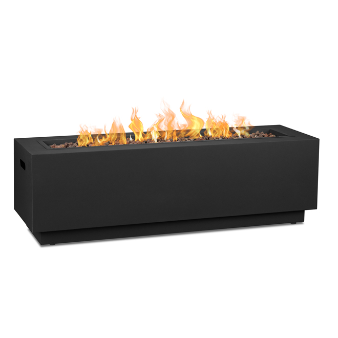 Real Flame Outdoor Fireplace Lanesboro - Propane Gas - 48-in - 50,000 BTU - Black Matte