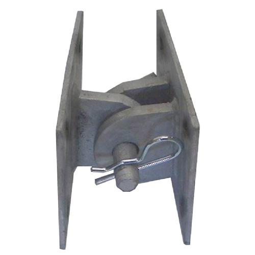 """Joint de quai modèle «T» en acier, gris acier, 5""""x5""""x3"""""""