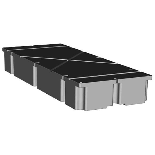 """Flotteur de quai en polyéthylène, noir, 24""""x60""""x8"""""""