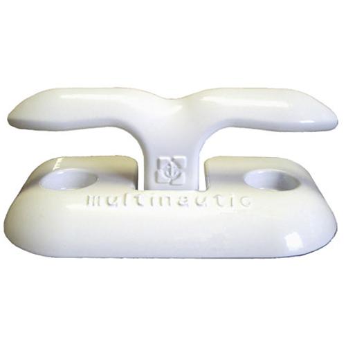 "Taquet d'amarrage « escamotable » en aluminium blanc, 6"""