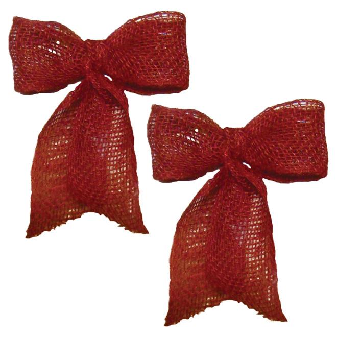 Boucles décoratives en jute - Paquet de 2