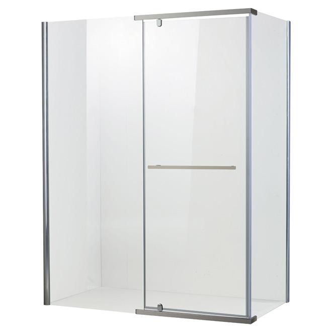 Porte de douche réversible « Salto », 34'' x 46,3'' x 75''