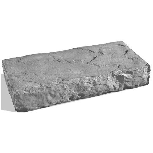 Marche en béton « Danforth », gris Batiscan, 16 x 32 po