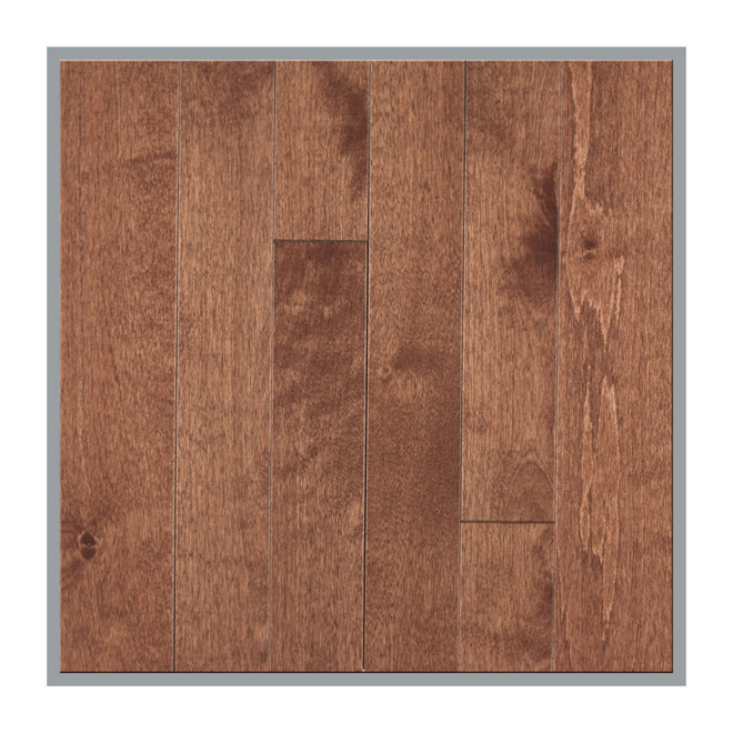 "Birch Hardwood Flooring - 3 1/4"" x 3/4"" - Paprika"