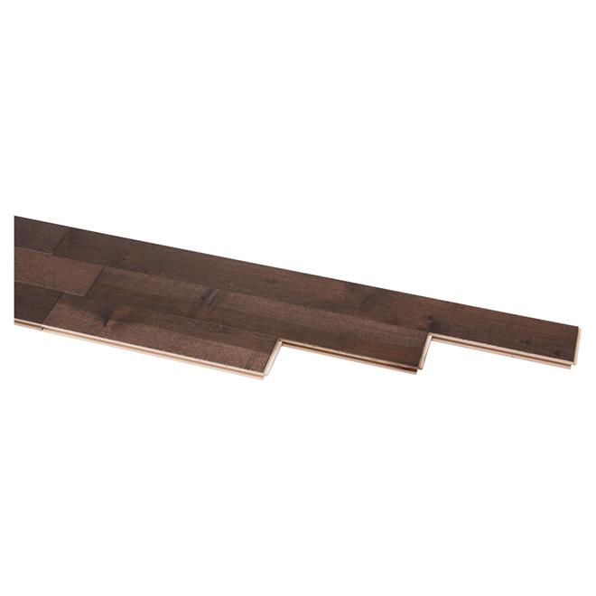 Plancher de bois franc en érable, sepia