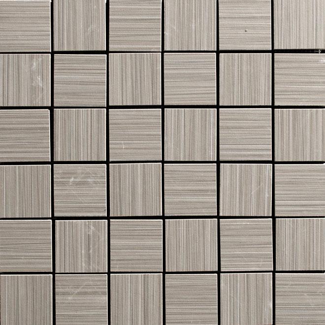 """Mosaïque en porcelaine «Zen», 12"""" x 12"""", gris, 5/pqt"""