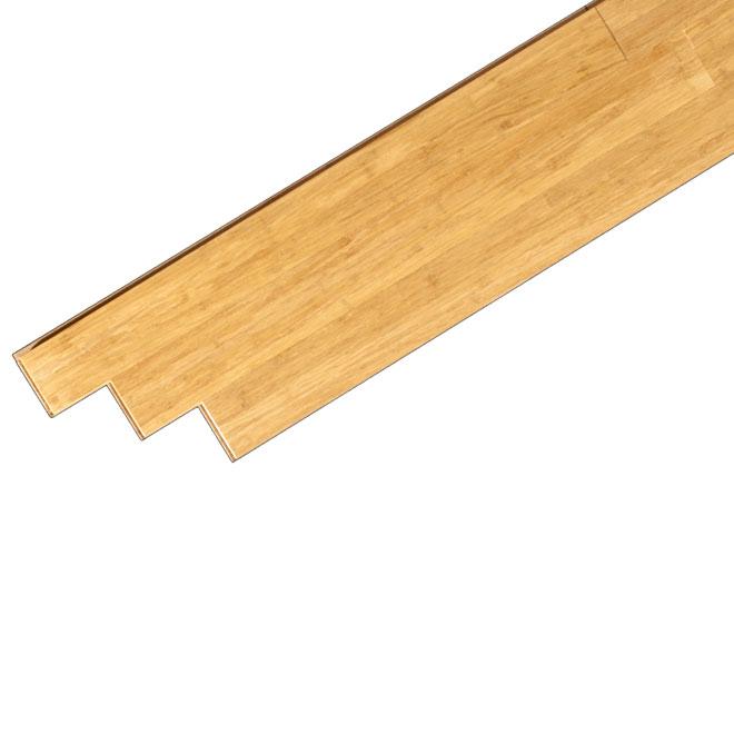 Plancher de bois franc « Sand » en bambou, beige