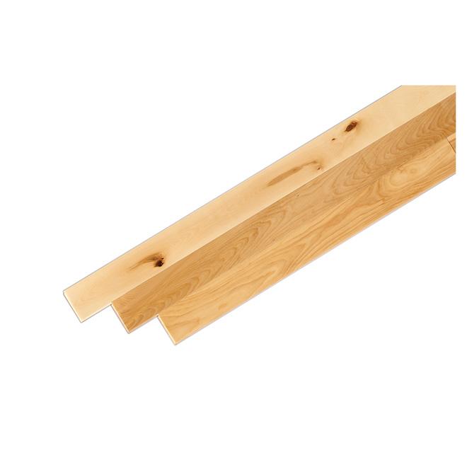 """Plancher de bois franc en merisier, 3 1/4"""" x 3/4"""", naturel"""