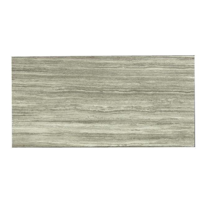 Tuile de porcelaine «Silk Steel» gris foncé