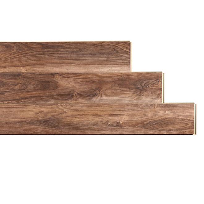 Plancher stratifié « Megaloc » 10mm, Noir Et Brun