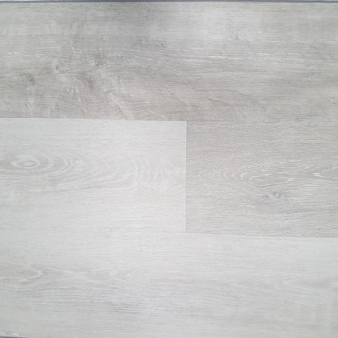 Plancher de vinyle Mono Serra, gris pâle, 5,94 po x 48 po, 14 unités