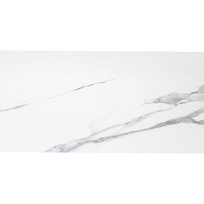 Mono Serra Vinyl Tile - Marble - 12'' x 24'' - Carrara