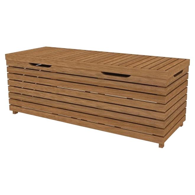 Coffre de rangement pour patio Kingsbury, eucalyptus