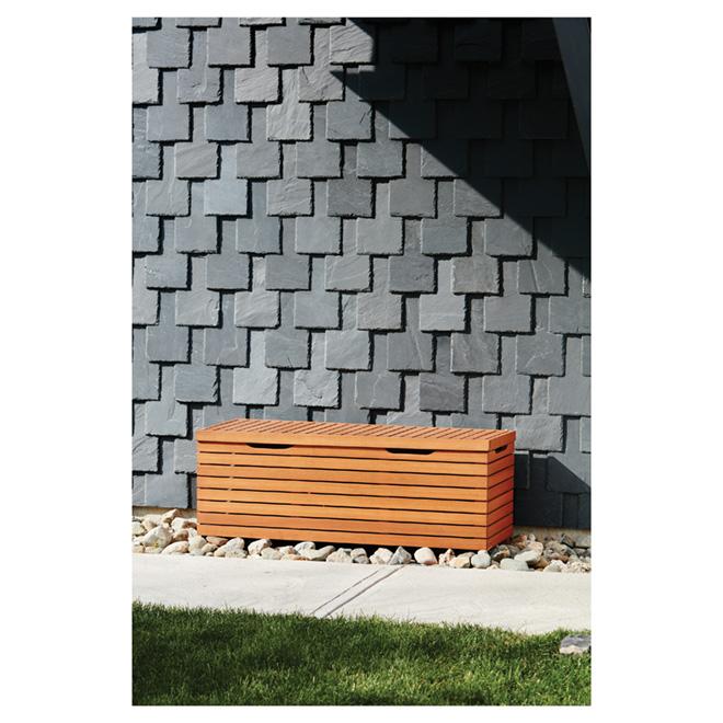 Coffre de rangement pour patio kingsbury eucalyptus rona for Porte patio rona