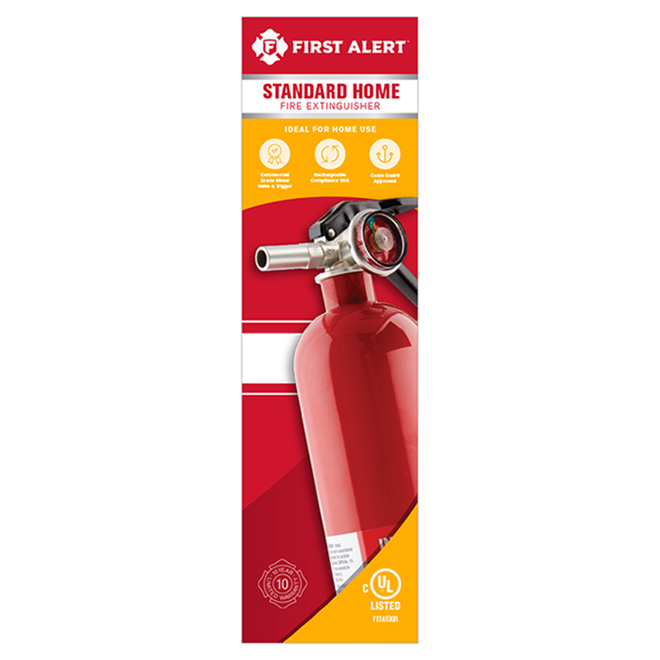 Rechargeable Home Fire Extinguisher - Type 1A 10-BC/2.5 lb